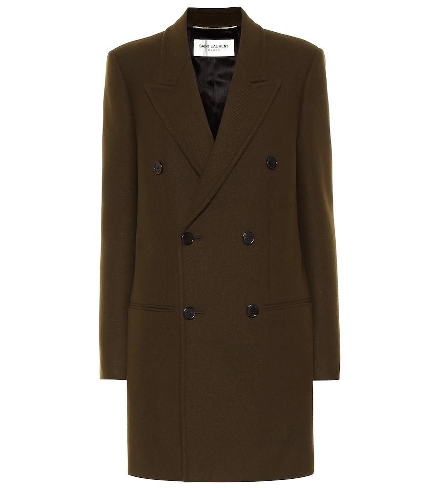 Manteau en laine mélangée - Saint Laurent - Modalova