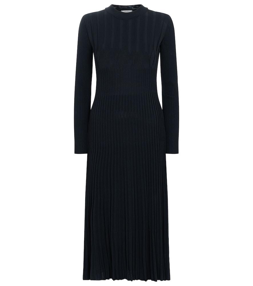 Nausica ribbed-knit cr?e midi dress by Max Mara