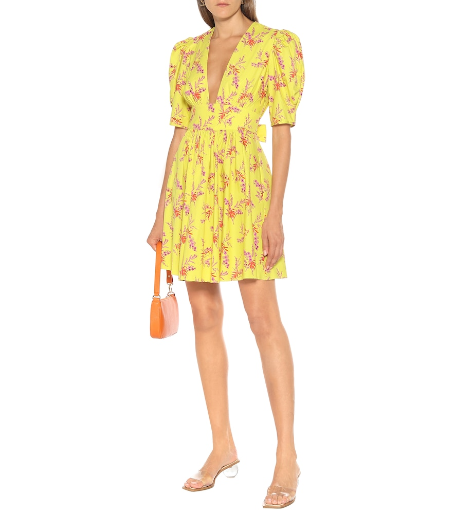 Exclusive to Mytheresa - Floral cotton poplin minidress by Les Rêveries