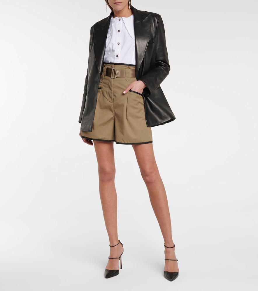 SELF-PORTRAIT Shorts HIGH-RISE BELTED SHORTS