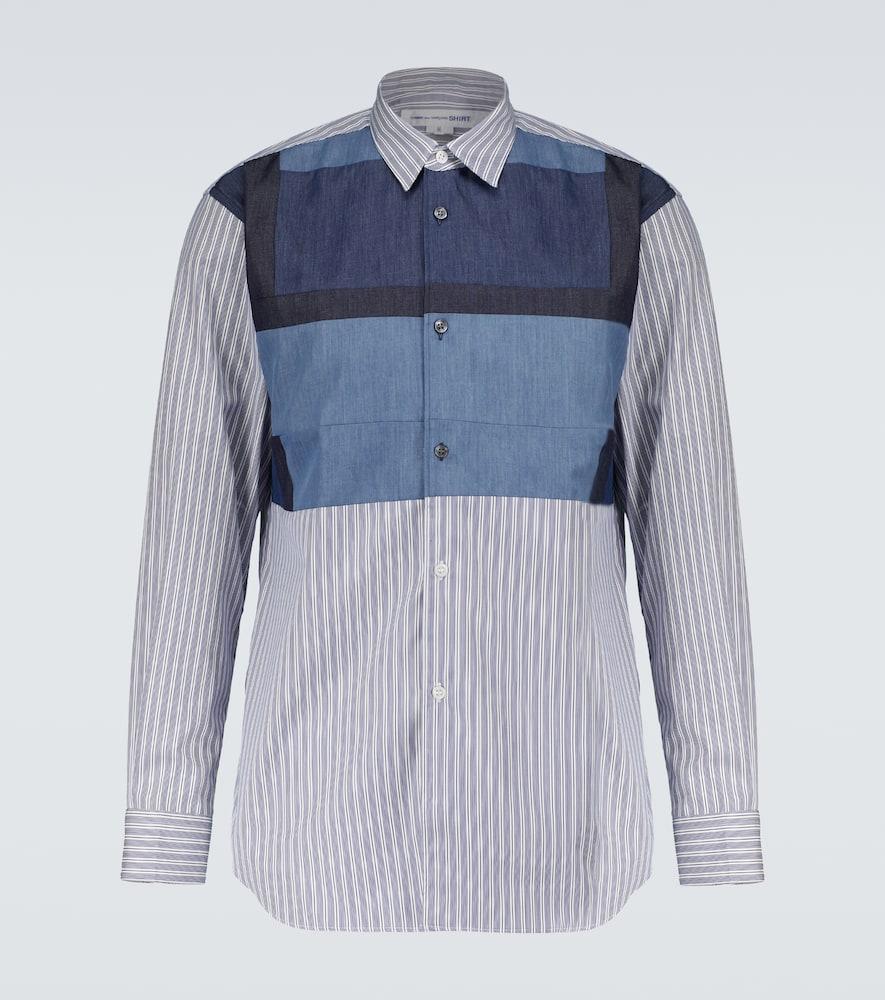 Long-sleeved cotton patchwork shirt