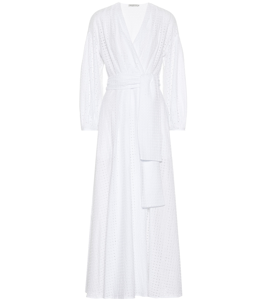 THREE GRACES LONDON Roksana Cotton Dress in White