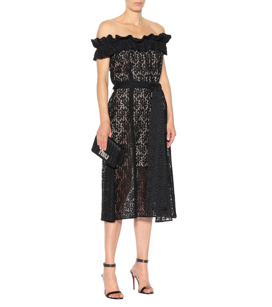 Off-the-shoulder lace dress by Stella McCartney