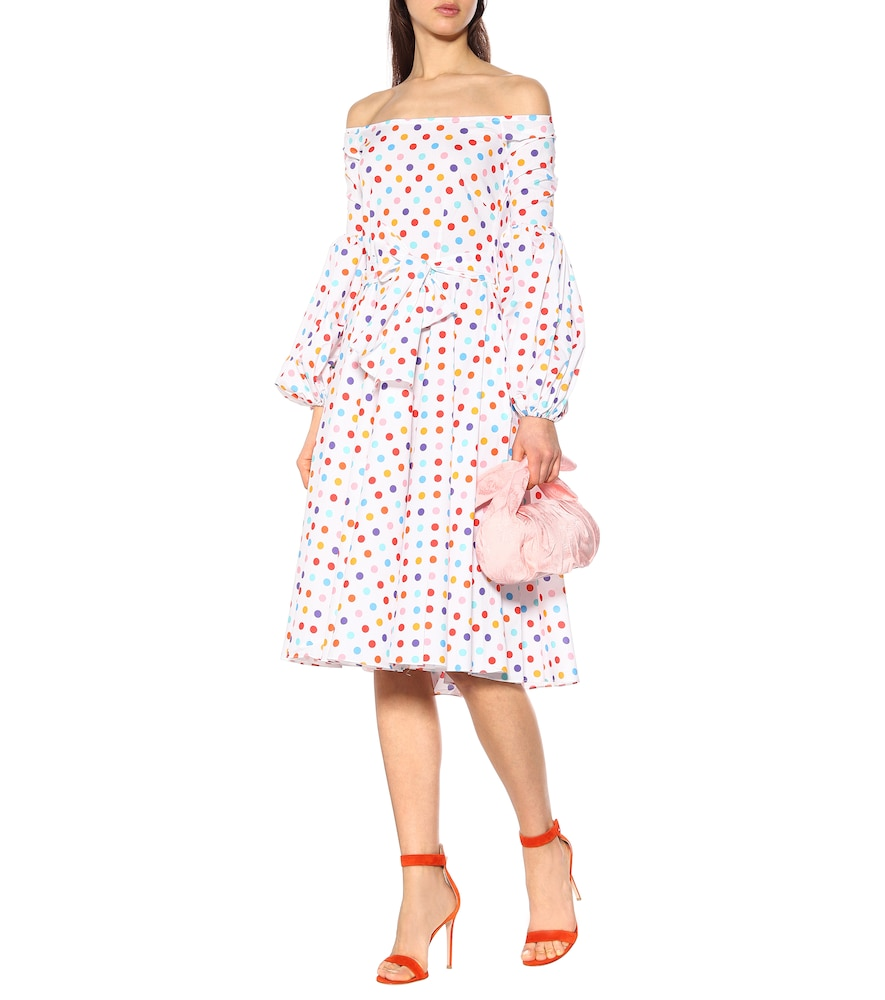 Gisele polka-dot poplin dress by Caroline Constas