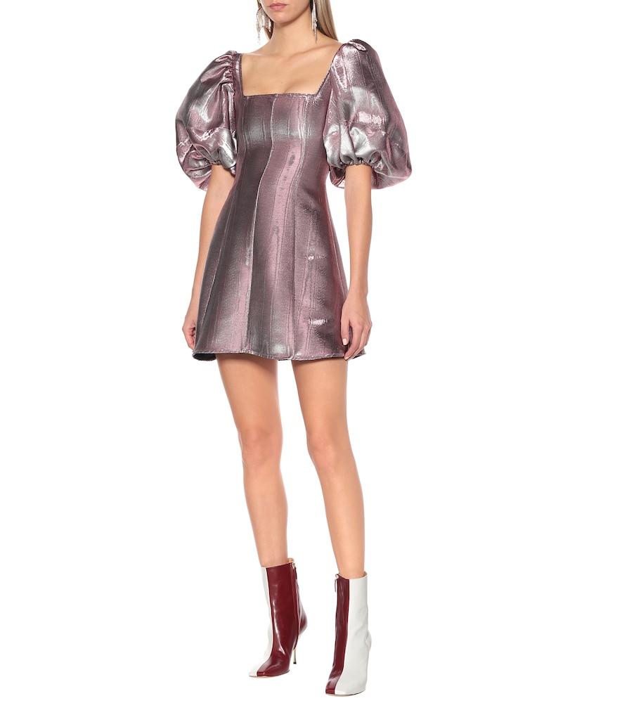 Lady D'arbanville metallic minidress by Ellery
