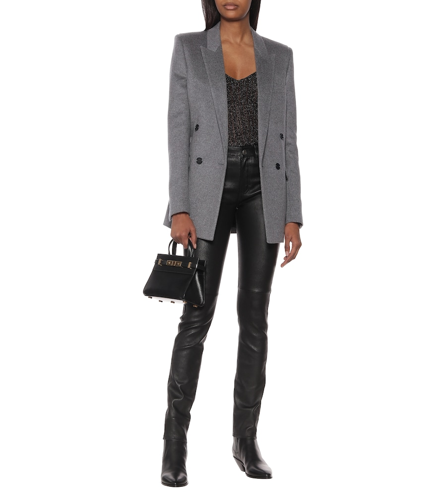 Wool and cashmere blazer by Saint Laurent