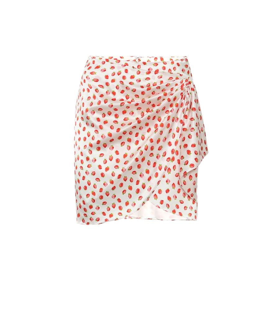 Mini-jupe portefeuille Koren en soie mélangée