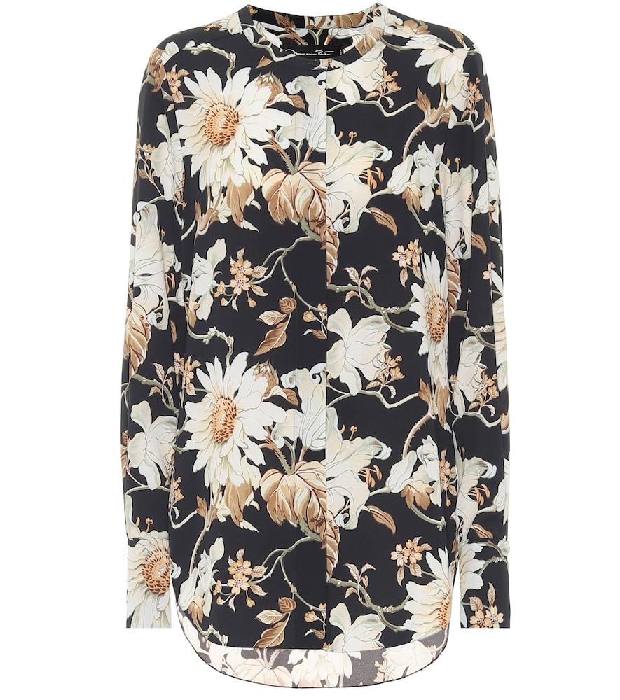 Chemise imprimée à fleurs - Oscar de la Renta - Modalova