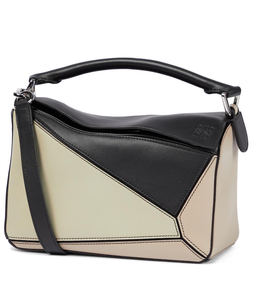 Paula's Ibiza Puzzle Small leather shoulder bag