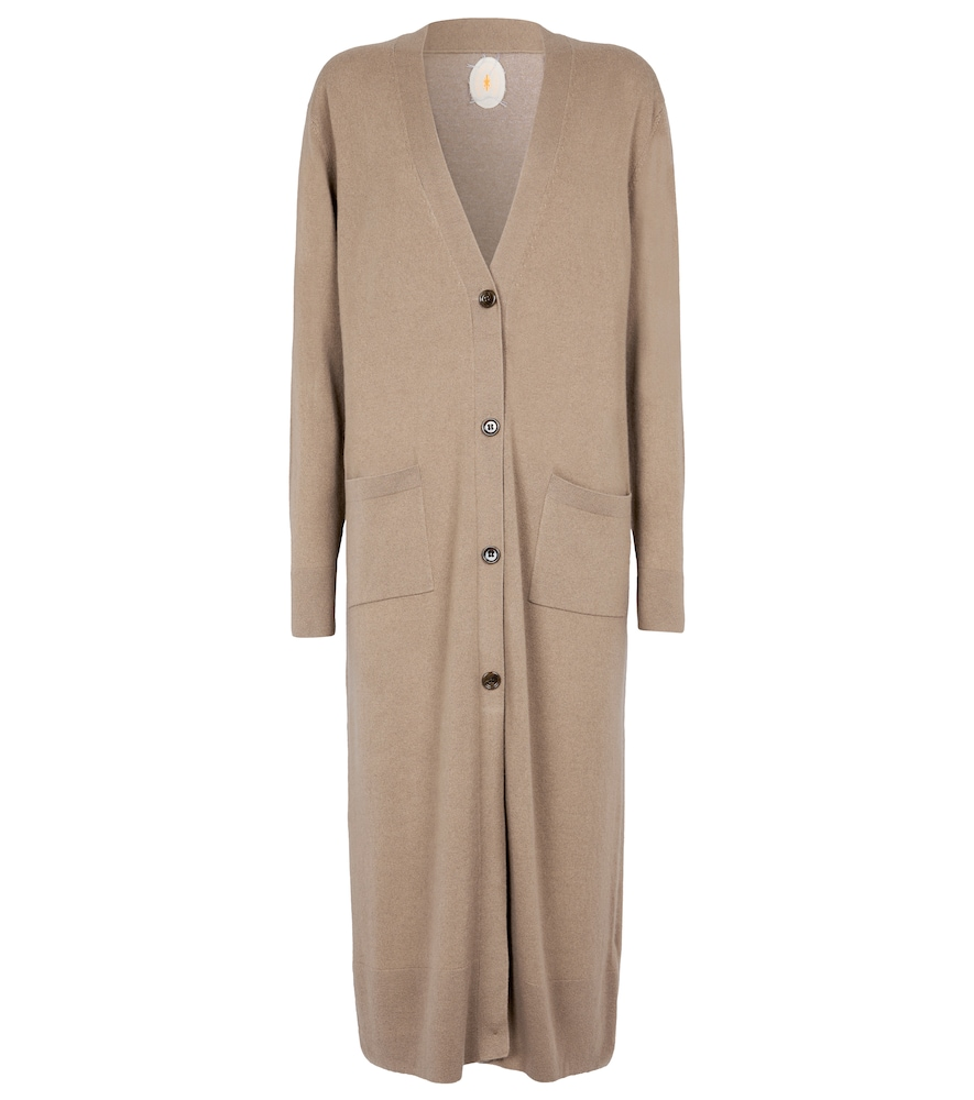 Buttoned wool and cashmere cardigan