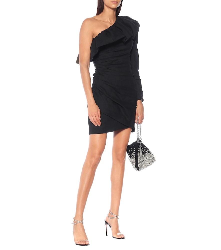 One-shoulder minidress by Dundas