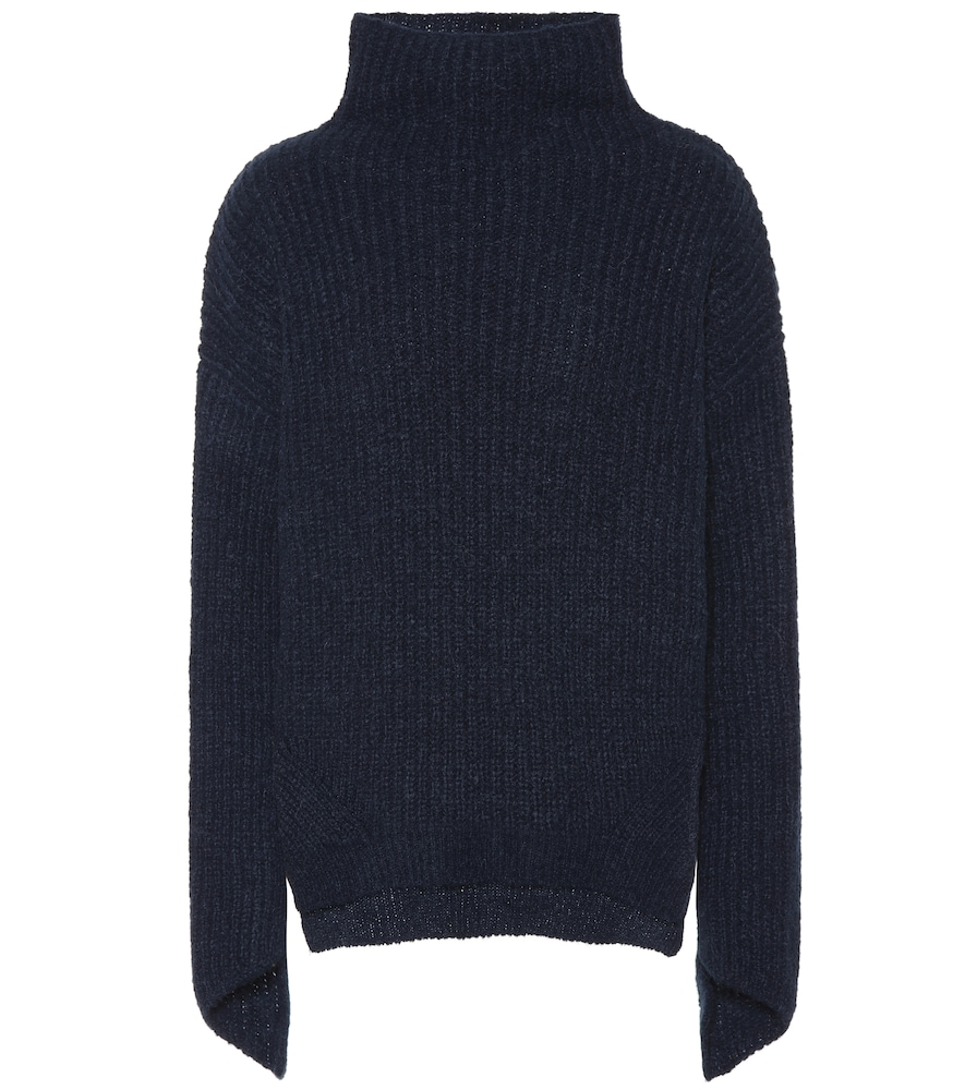 81 HOURS Bay Alpaca And Wool-Blend Sweater in Blue