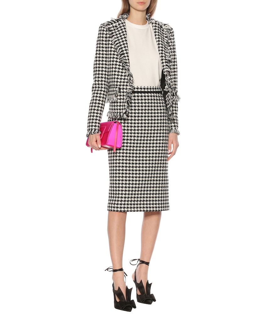 Houndstooth tweed blazer by MSGM