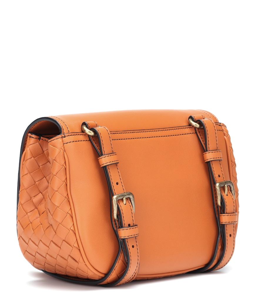 02cffe11991 Shop Bottega Veneta Bv Luna Leather Crossbody Bag In Orange