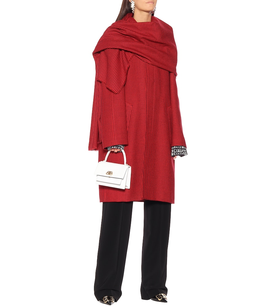 Virgin wool scarf coat by Balenciaga