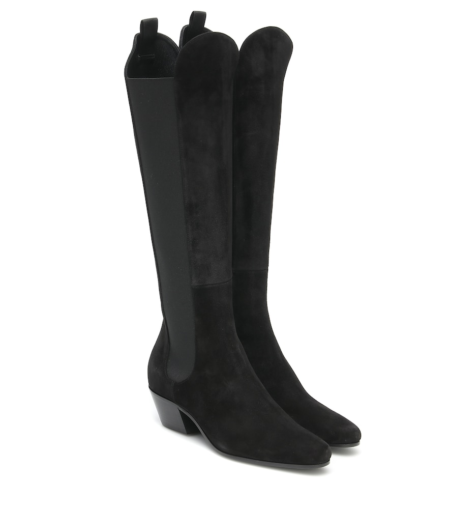 Chester suede knee-high boots