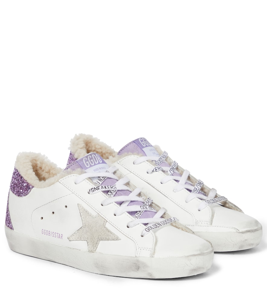 Superstar faux fur and leather sneakers