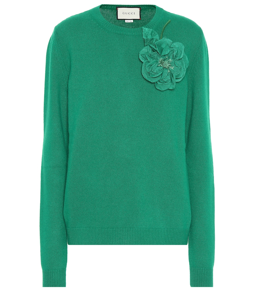 189db742ff8249 GUCCI WOOL AND CASHMERE SWEATER, GREEN | ModeSens