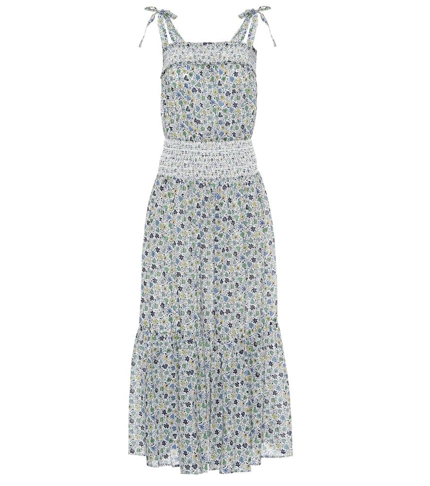 Floral cotton midi dress by Tory Burch