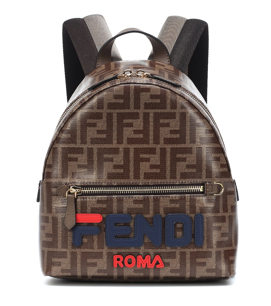 Fendi Brown Mini Fendi Mania Backpack in F1562 Blue