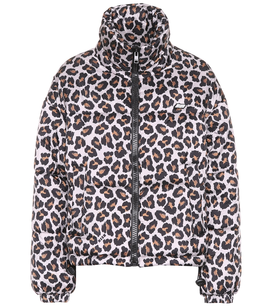Leopard-print puffer jacket by MSGM