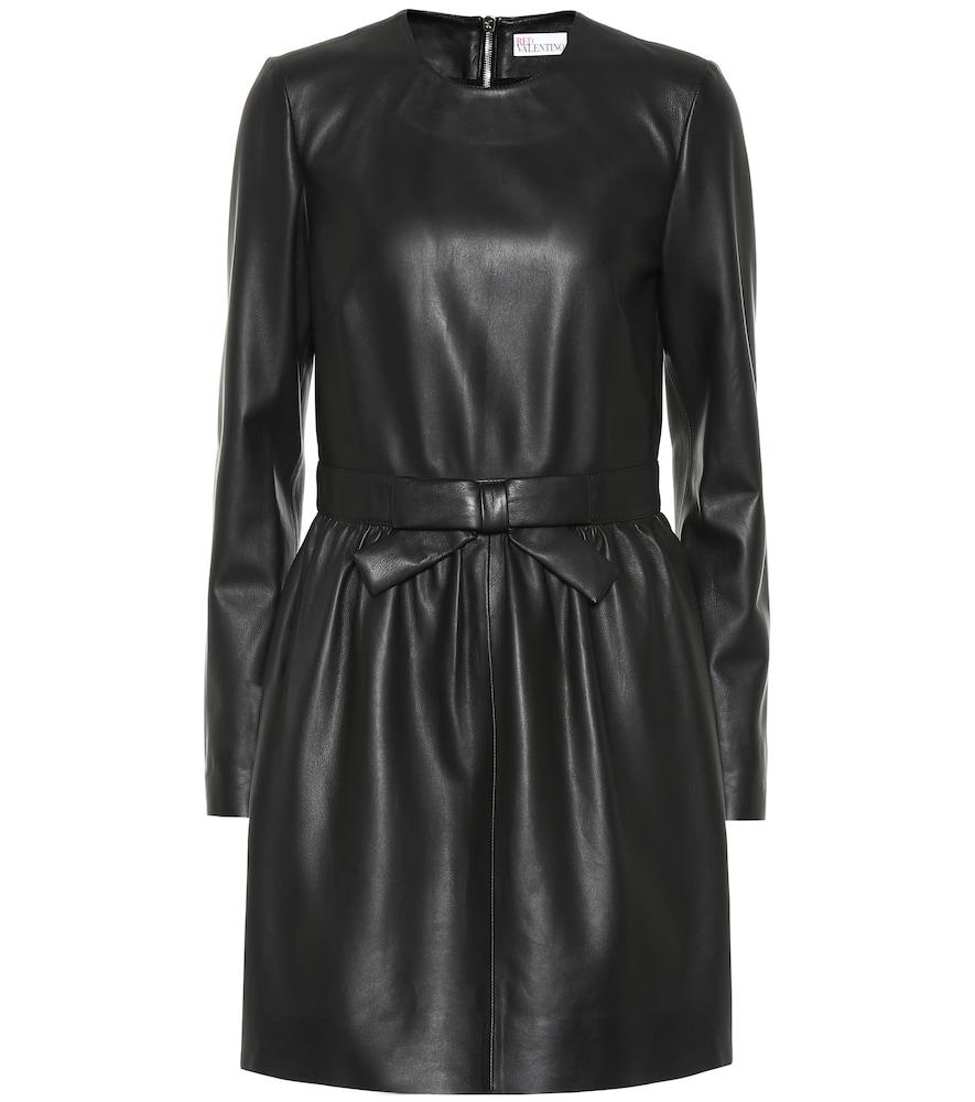 Robe en cuir - REDValentino - Modalova