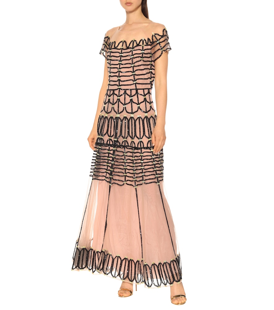 Clio embellished tulle dress by Temperley London
