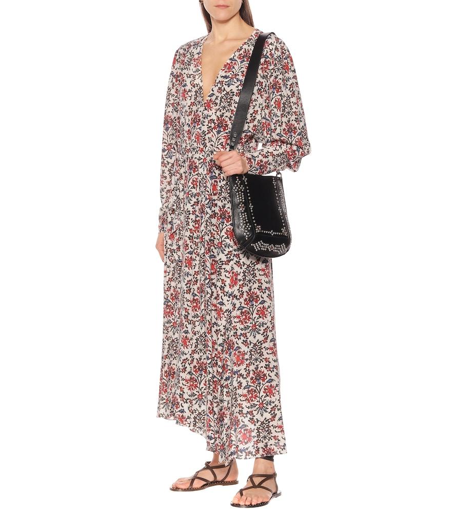 Blaine floral stretch-silk dress by Isabel Marant