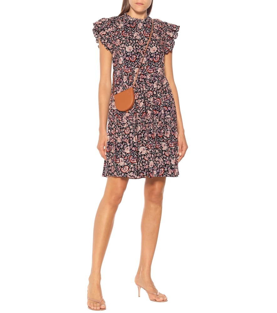 Hana floral cotton-blend minidress by Ulla Johnson