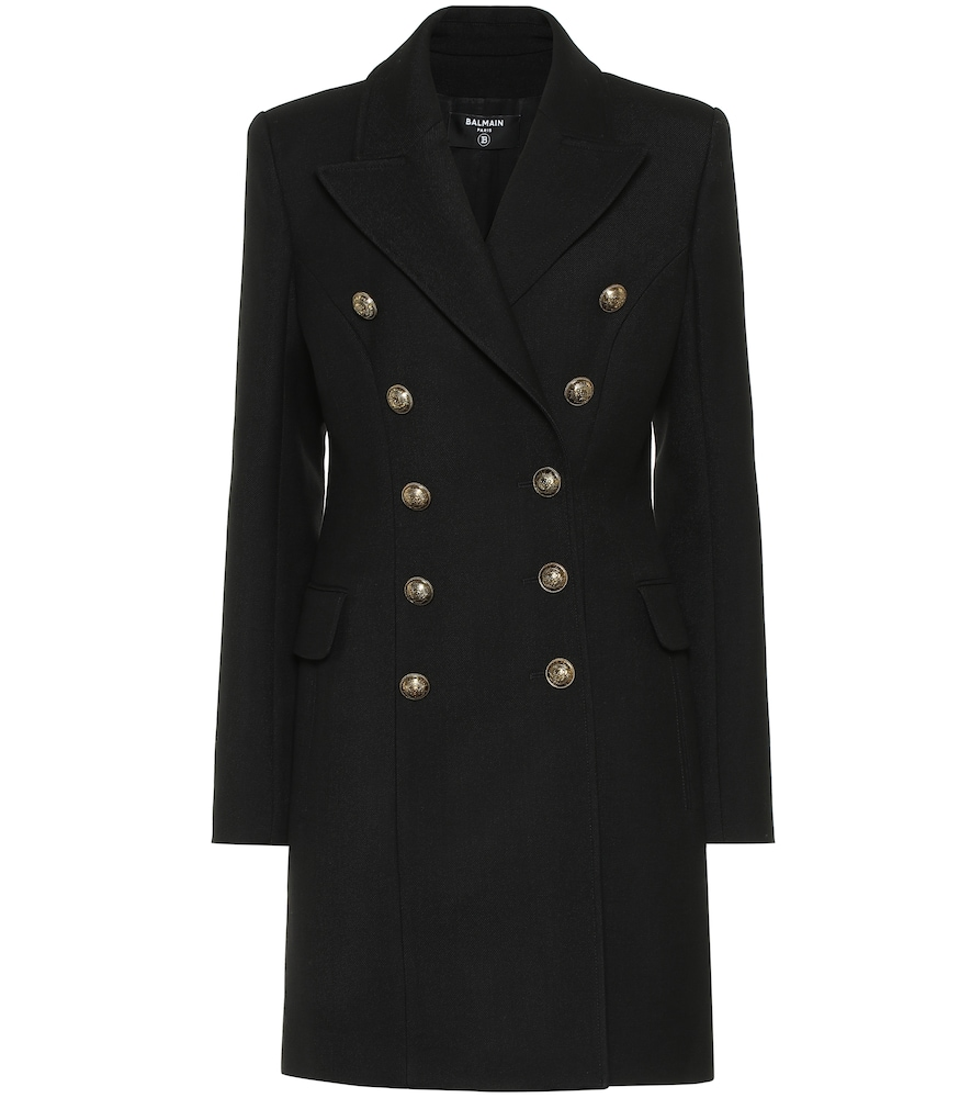 Manteau en laine vierge - Balmain - Modalova