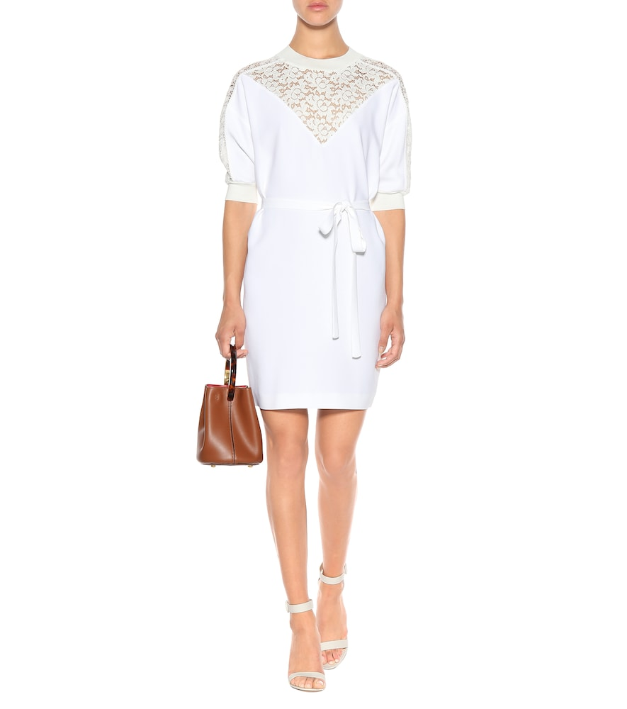 Lace-paneled crêpe dress by Stella McCartney