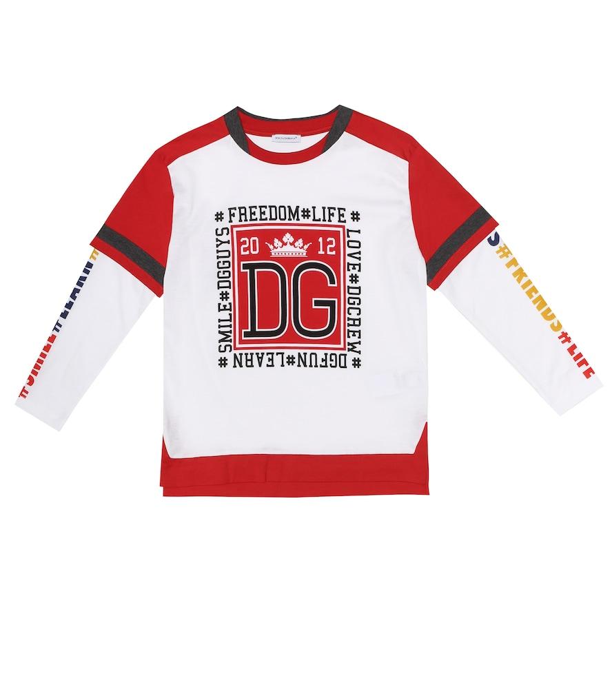 Dolce & Gabbana Kids' Printed Cotton T-Shirt In White