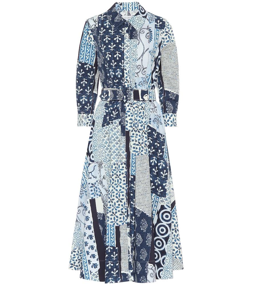 Robe midi imprimée en coton - Oscar de la Renta - Modalova