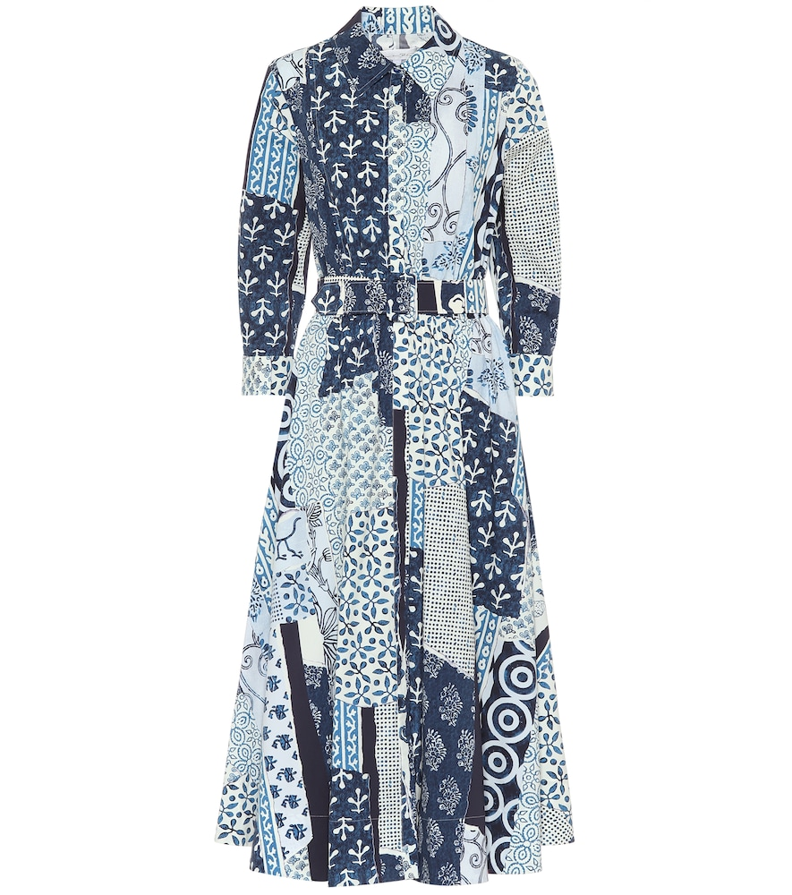 Cotton-poplin midi shirt dress by Oscar de la Renta