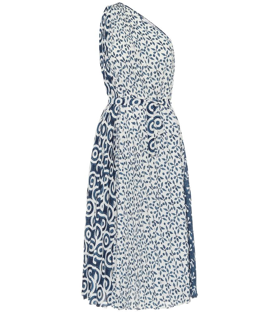Robe midi asymétrique imprimée - Oscar de la Renta - Modalova