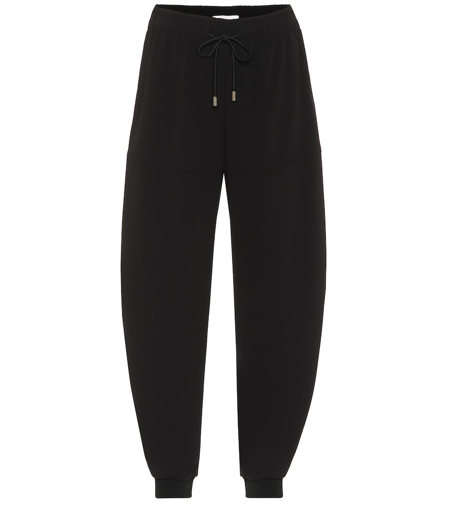 Pantalon de survêtement en crêpe de soie mélangée