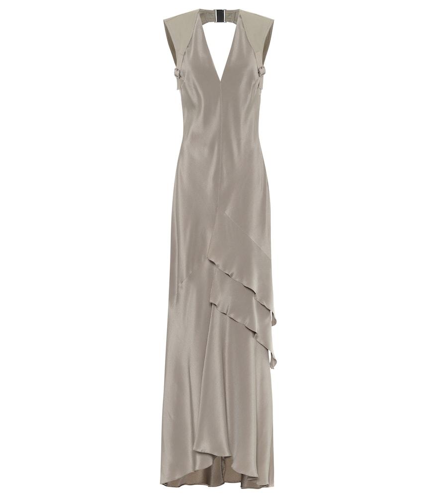 Arezzo silk-cr?e gown by Max Mara