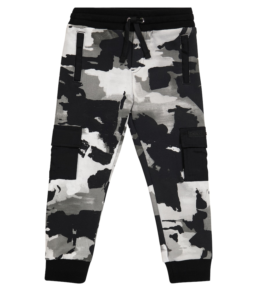 Dolce & Gabbana CAMO COTTON JERSEY SWEATPANTS