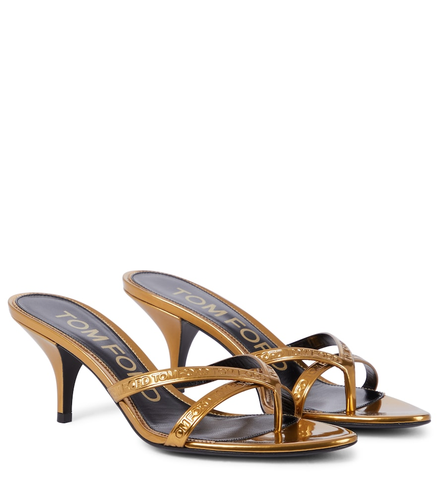 Tom Ford LEATHER THONG SANDALS