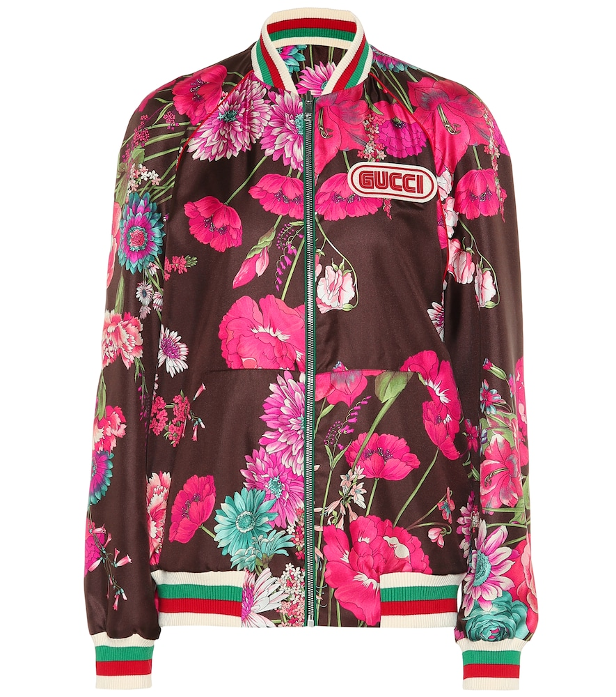 Reversible Silk Twill Jacket, Multicoloured