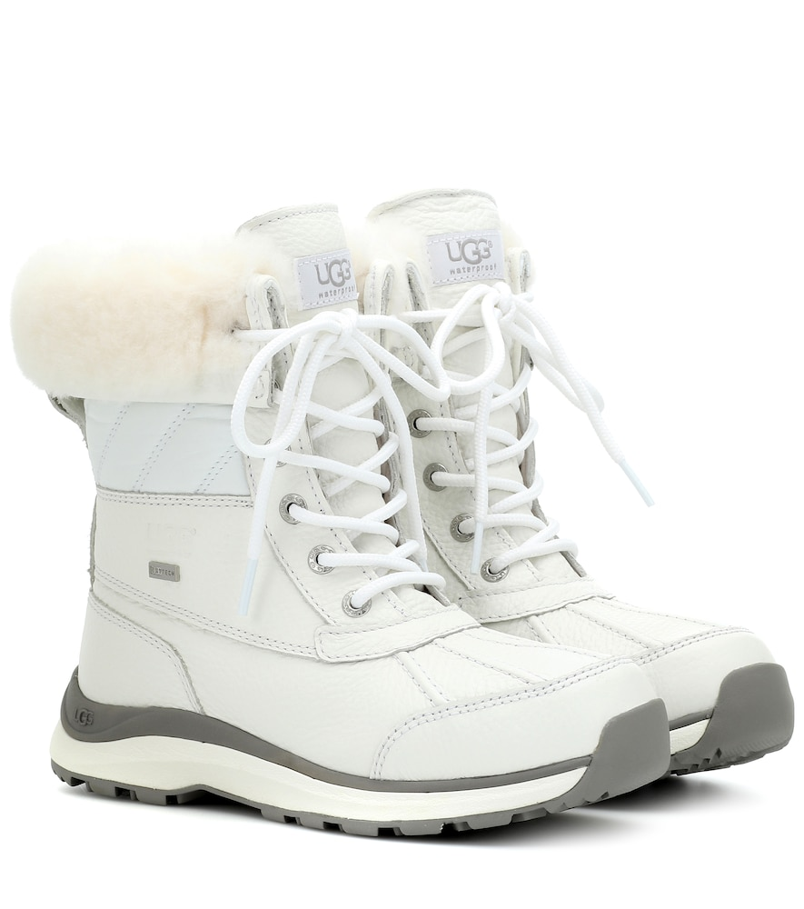 Adirondack Ii Leather Ankle Boots in White
