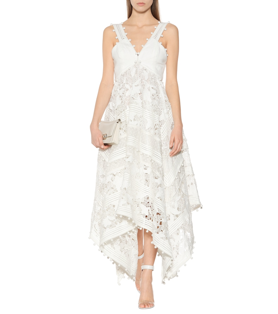 Corsage cotton and silk lace dress by Zimmermann