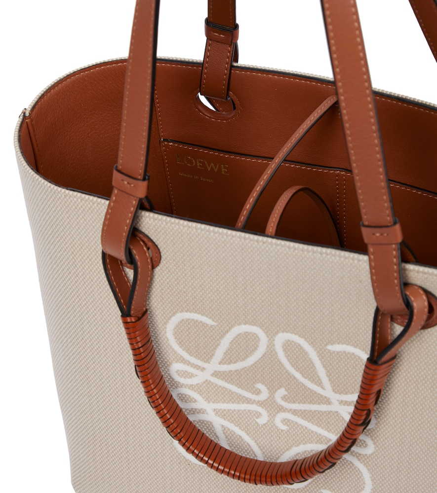 LOEWE Leathers ANAGRAM SMALL CANVAS TOTE