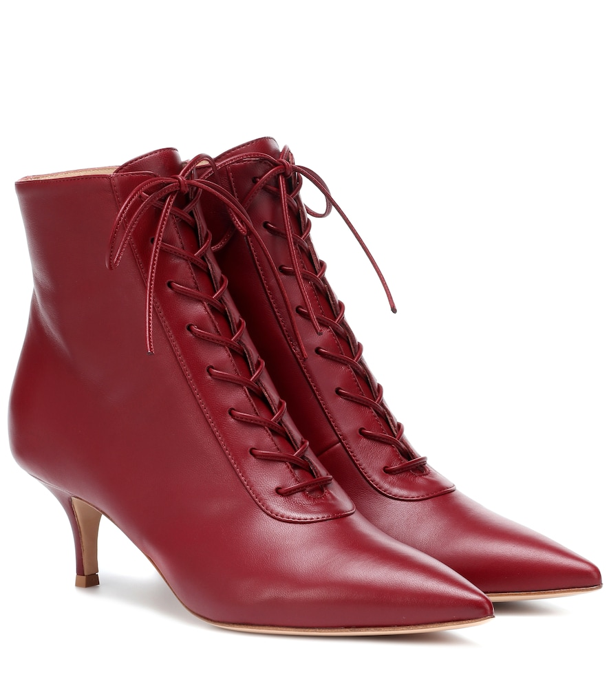 Exclusive To Mytheresa - Gillian 55 Leather Ankle Boots, Red