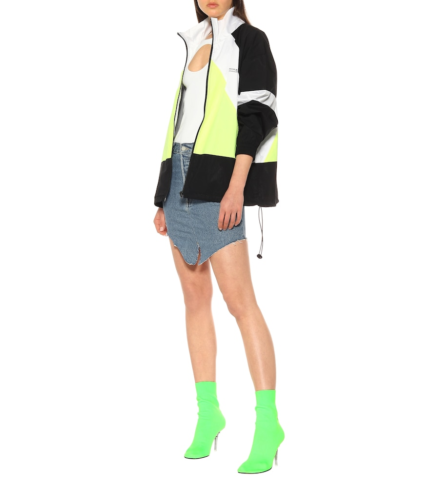 Photo of Eiffel Tower sock ankle boots by Vetements - shop Vetements Ankle Boots, High-Heel online