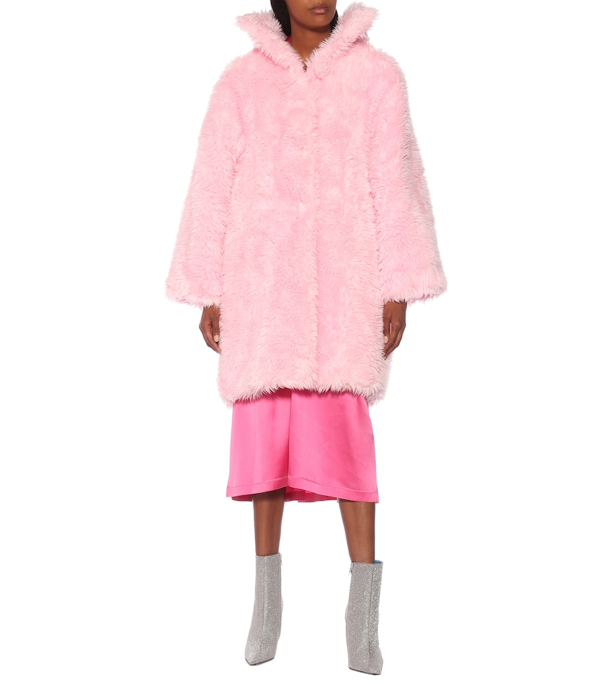 Swing faux fur coat by Balenciaga