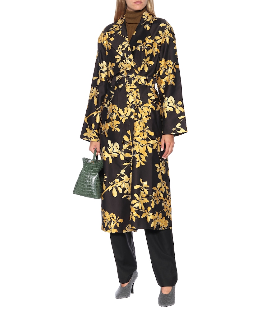 Printed twill coat by Dries Van Noten