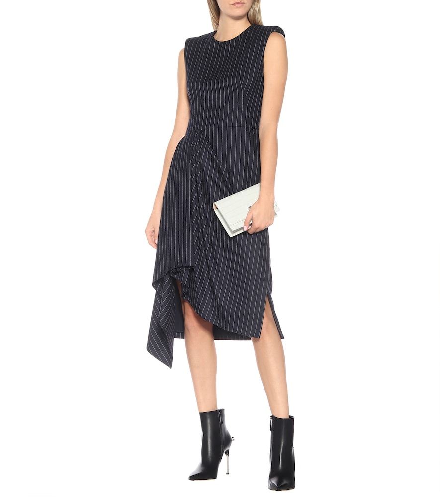 Striped wool dress by Alexander McQueen