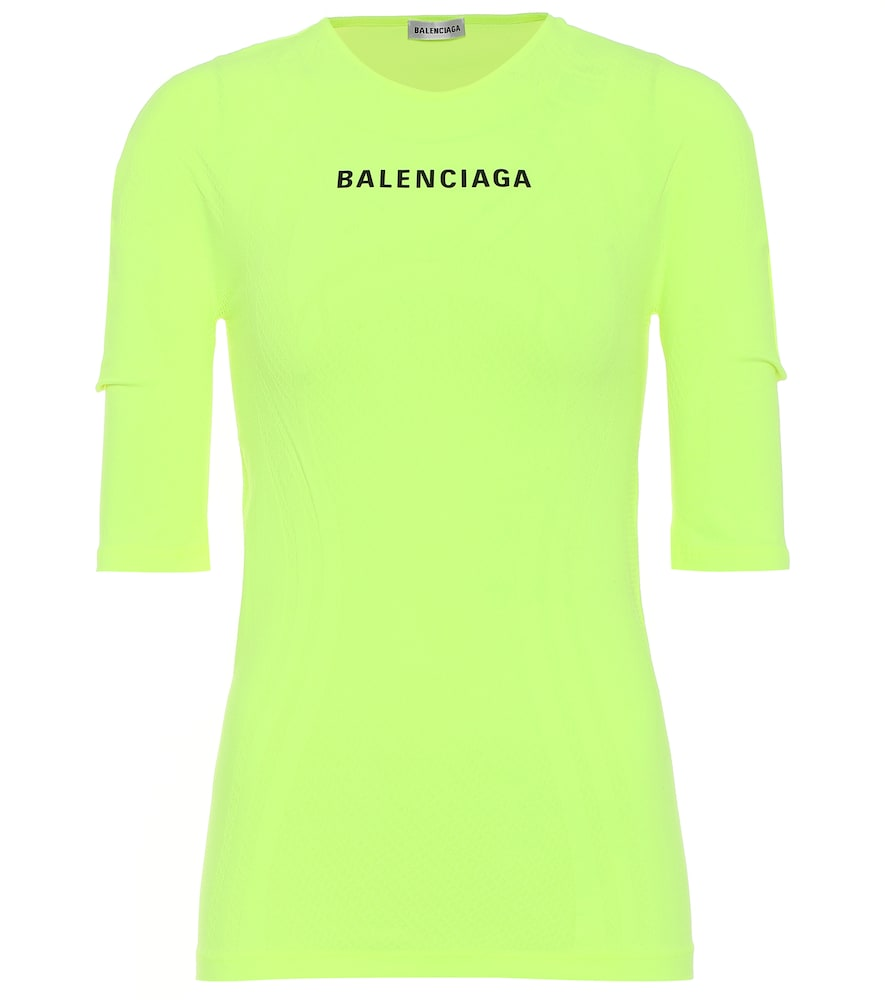 Logo athletic stretch-jersey top