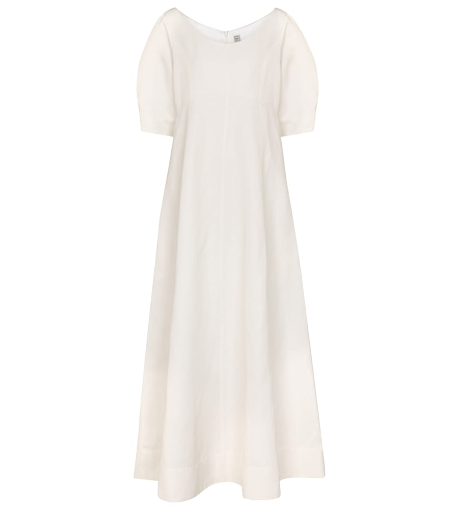 Exclusive to Mytheresa - Linen and cotton-blend midi dress